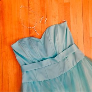 Blondie Nites by Linda Bernell Blue Prom Dress